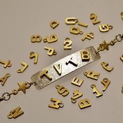 Braccialetto in argento e oro per dire