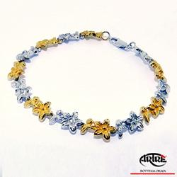 White and yellow gold bracelet