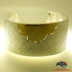 Bracciale in argento e oro